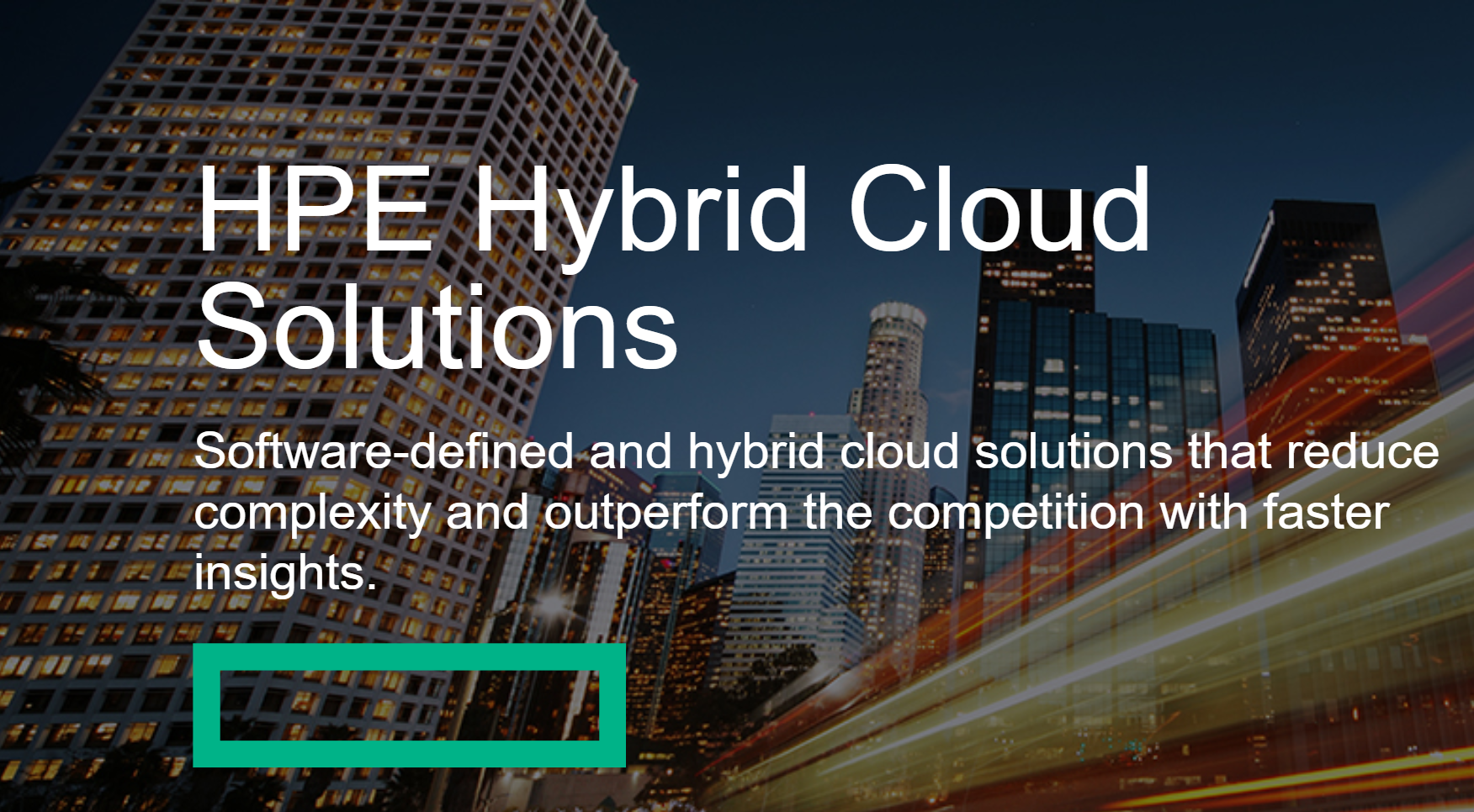 HPE Hybrid Cloud Solutions